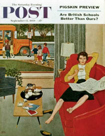 Saturday Evening Post - 1959-09-12: Morning Coffee Break (Amos Sewell)