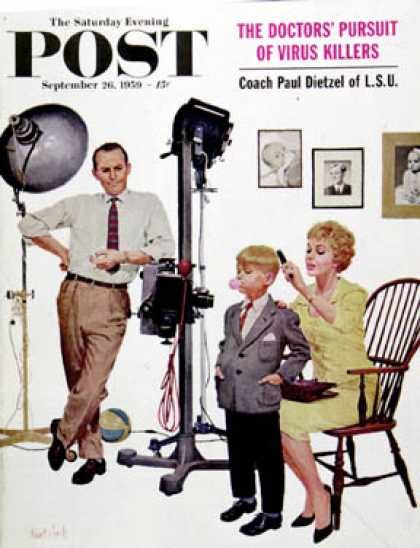 Saturday Evening Post - 1959-09-26: At the Photographer (Kurt Ard)