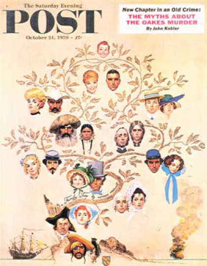 "Saturday Evening Post - 1959-10-24: ""Family Tree"" (Norman Rockwell)"