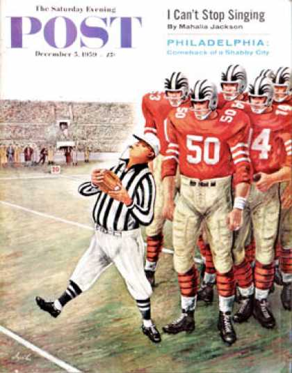 Saturday Evening Post - 1959-12-05: Five Yard Penalty (Constantin Alajalov)