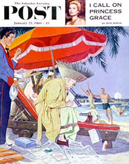 Saturday Evening Post - 1960-01-23: Business at the Beach (James Williamson)