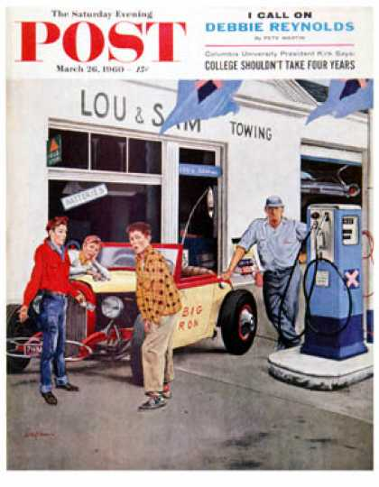 Saturday Evening Post - 1960-03-26: Gas Money (George Hughes)