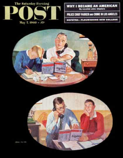 Saturday Evening Post - 1960-05-07: Fathers' Homework (John Falter)