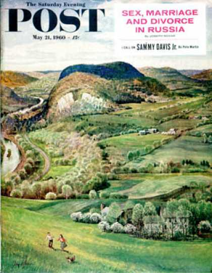 Saturday Evening Post - 1960-05-21: Green Moutains (John Clymer)