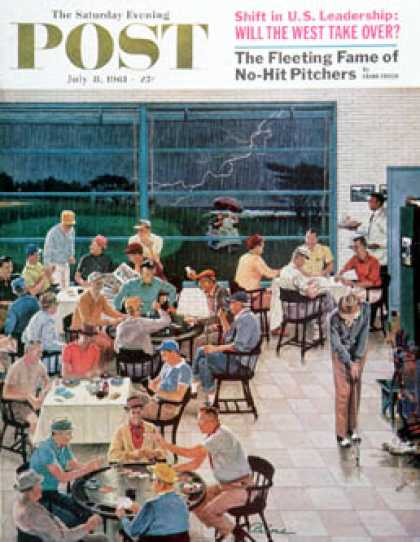 Saturday Evening Post - 1961-07-08: Clubhouse on Rainy Day (Ben Kimberly Prins)