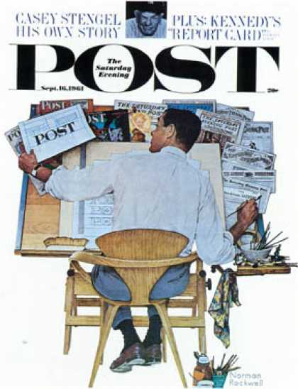 "Saturday Evening Post - 1961-09-16: ""Artist at Work"" (Norman Rockwell)"