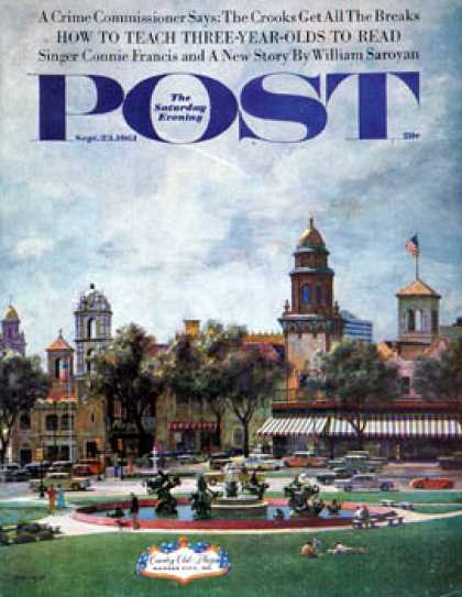 Saturday Evening Post - 1961-09-23: Kansas City (John Falter)