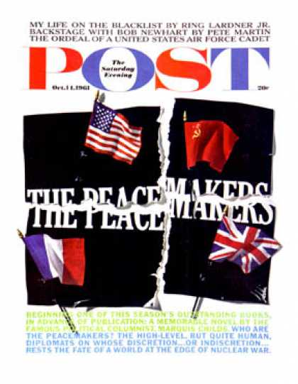 Saturday Evening Post - 1961-10-14: The Peacemakers (Herb Lubalin)