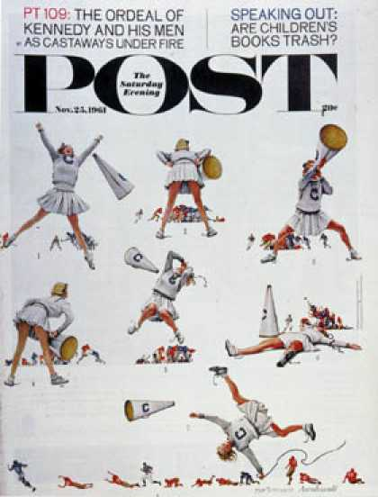 "Saturday Evening Post - 1961-11-25: ""Cheerleader"" (Norman Rockwell)"