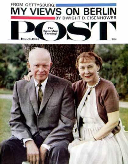 Saturday Evening Post - 1961-12-09: Mamie & Dwight Eisenhower (Burt Glinn)