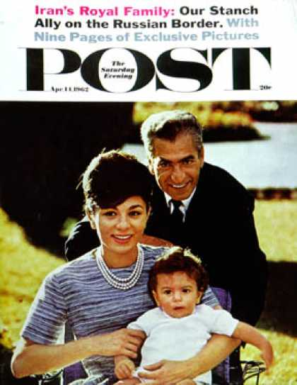 Saturday Evening Post - 1962-04-14: Shah of Iran's Family (John Bryson)