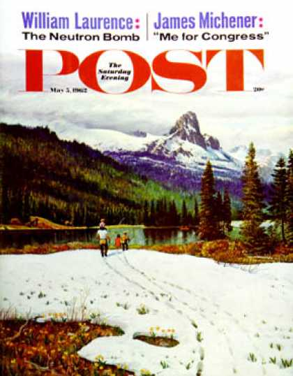 Saturday Evening Post - 1962-05-05: Spring Warms the Mountains (John Clymer)