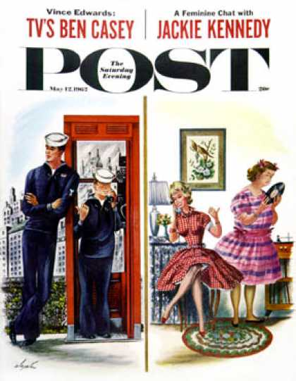 Saturday Evening Post - 1962-05-12: She Has a Great Personality (Constantin Alajalov)