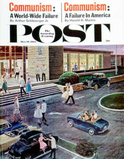 Saturday Evening Post - 1962-05-19: Prom Dates in Parking Lot (Ben Kimberly Prins)