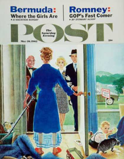 Saturday Evening Post - 1962-05-26: Home Showing (George Hughes)