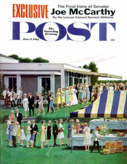 Saturday Evening Post - 1962-06-09: Wedding Reception (Ben Kimberly Prins)