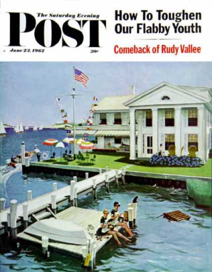 Saturday Evening Post - 1962-06-23: Yacht Club (George Hughes)