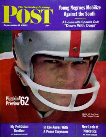 Saturday Evening Post - 1962-09-08: Pigskin Preview, 1962 (Gordon Tenney)