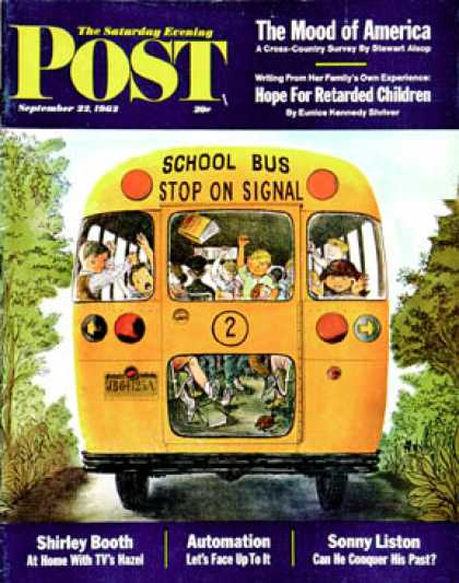 Saturday Evening Post - 1962-09-22: School Bus (Erik Blegvard)