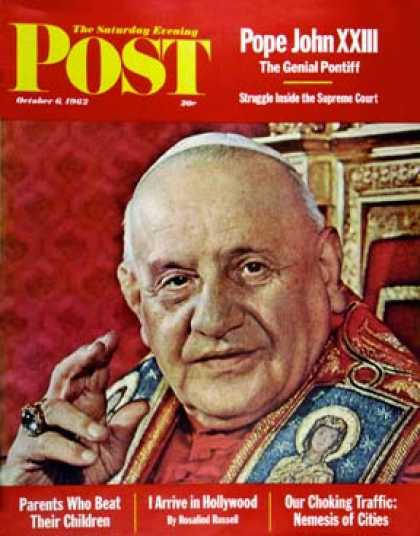 Saturday Evening Post - 1962-10-06: Pope John XXIII (Yousuf Karsh)