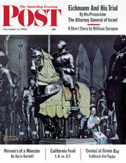 "Saturday Evening Post - 1962-11-03: ""Armor"" (Norman Rockwell)"