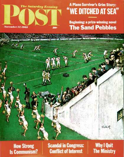 Saturday Evening Post - 1962-11-17: Baton Twirlers Leave the Field (Thornton Utz)