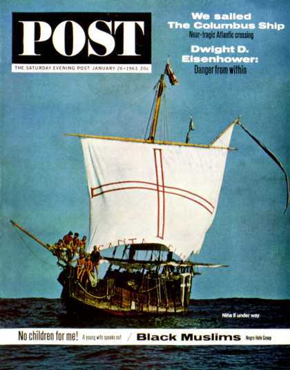Saturday Evening Post - 1963-01-26: Nina II (Larry Fried)