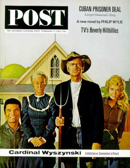 Saturday Evening Post - 1963-02-02: Beverly Hillbillies (Allan Grant)
