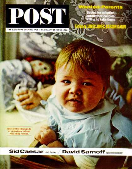 Saturday Evening Post - 1963-02-16: Foster Child (Burt Glinn)