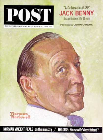 Saturday Evening Post - 1963-03-02: Jack Benny (Norman Rockwell)