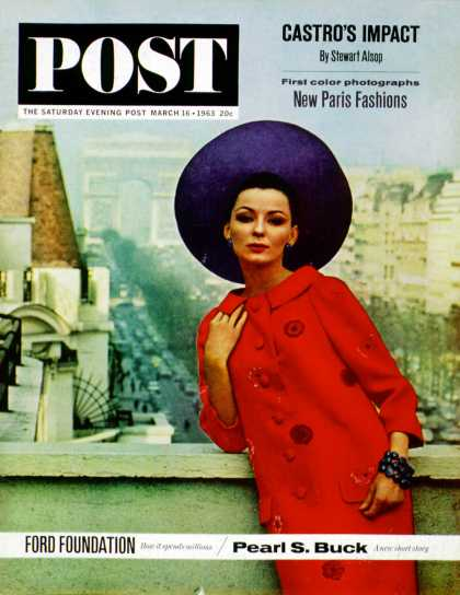 Saturday Evening Post - 1963-03-16: Paris Fashions (Burt Glinn)