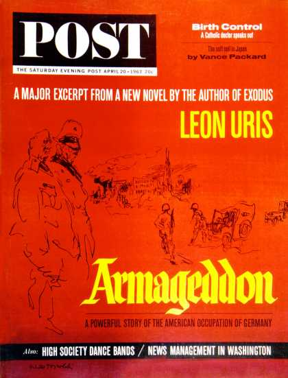Saturday Evening Post - 1963-04-20: Armageddon (Feliks Topolski)
