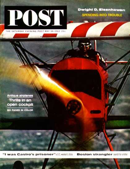 Saturday Evening Post - 1963-05-18: 1918 Fokker D-7 (John Zimmerman)