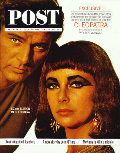 Saturday Evening Post - 1963-06-01: Burton & Taylor (Bert Stern)