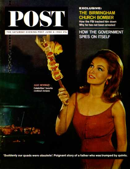 Saturday Evening Post - 1964-06-06: Julie Newmar (Henry Ries)