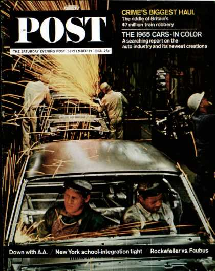 Saturday Evening Post - 1964-09-19: Ford Assembly Line (John Zimmerman)