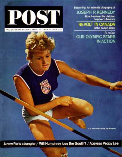 Saturday Evening Post - 1964-10-10: Olympic Pentathlete (Lawrence J. Schiller)