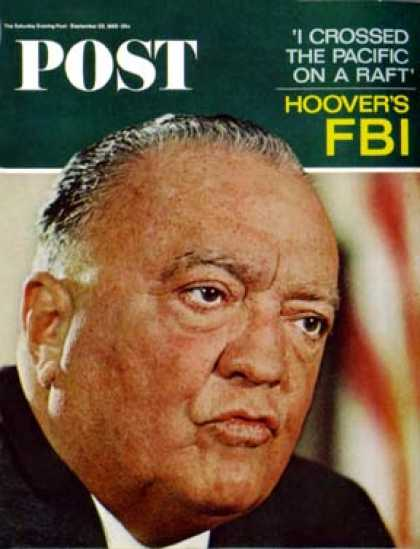 Saturday Evening Post - 1965-09-25: J. Edgar Hoover (Fred Ward)