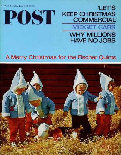 Saturday Evening Post - 1965-12-18: Fischer Quints at Two (Wayne Miller)