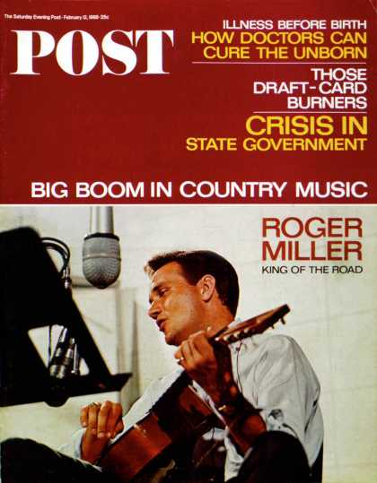 Saturday Evening Post - 1966-02-12: Roger Miller (Maurie Rosen)
