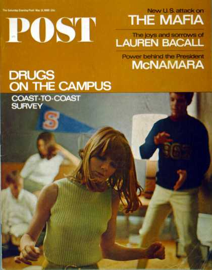 Saturday Evening Post - 1966-05-21: Drugs on the Campus (Carl Fischer)