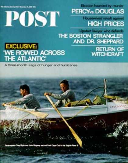 Saturday Evening Post - 1966-11-05: We Rowed Across the Atlantic (Fred Kaplan)