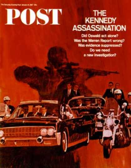 Saturday Evening Post - 1967-01-14: The Kennedy Assassination (Fred Otnes)