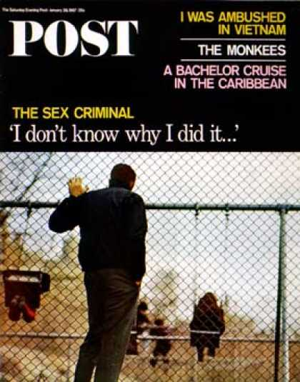 Saturday Evening Post - 1967-01-28: The Sex Criminal (Jacques Lowe)