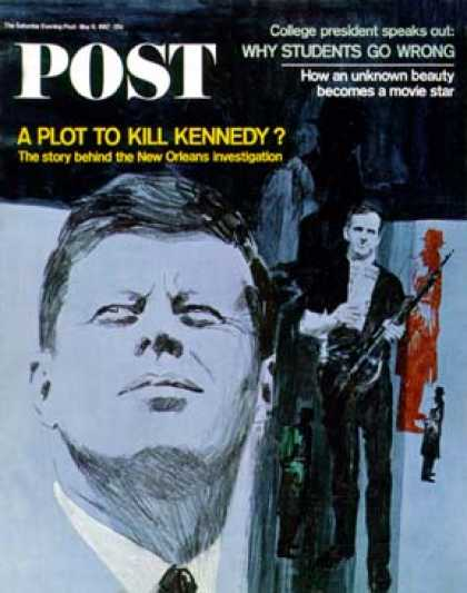 Saturday Evening Post - 1967-05-06: Kennedy & Oswald (Fred Otnes)