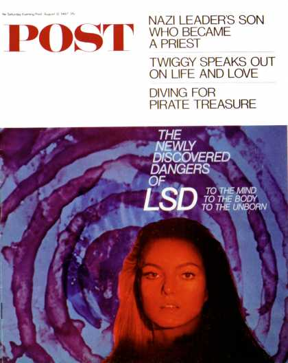 Saturday Evening Post - 1967-08-12: LSD (Jacques Lowe)