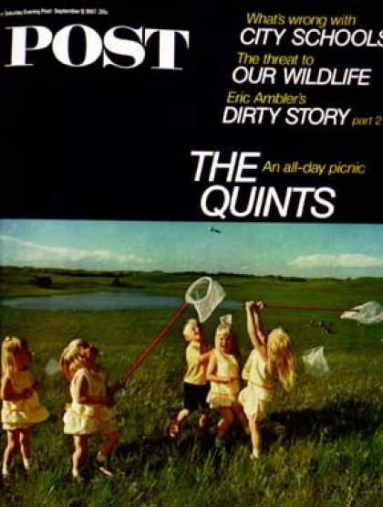 Saturday Evening Post - 1967-09-09: The Quints at Four (John Launois)