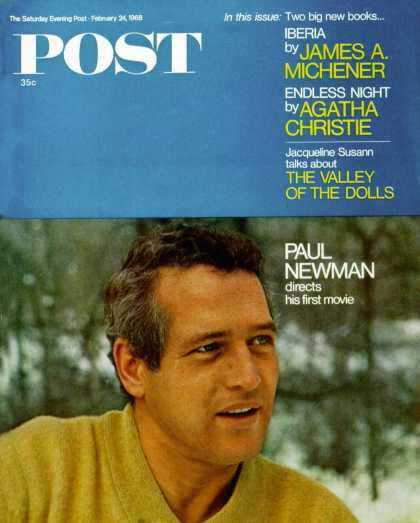 Saturday Evening Post - 1968-02-24: Paul Newman (Milton H. Green)