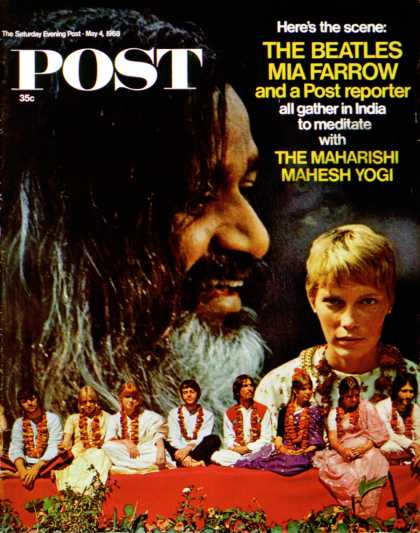 Saturday Evening Post - 1968-05-04: Celebs Seek Maharishi (Marvin & Kurland Lichtner)