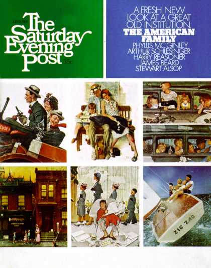 Saturday Evening Post - 1968-07-13: Rockwell Collage or Family Sailing (Charles Moore)